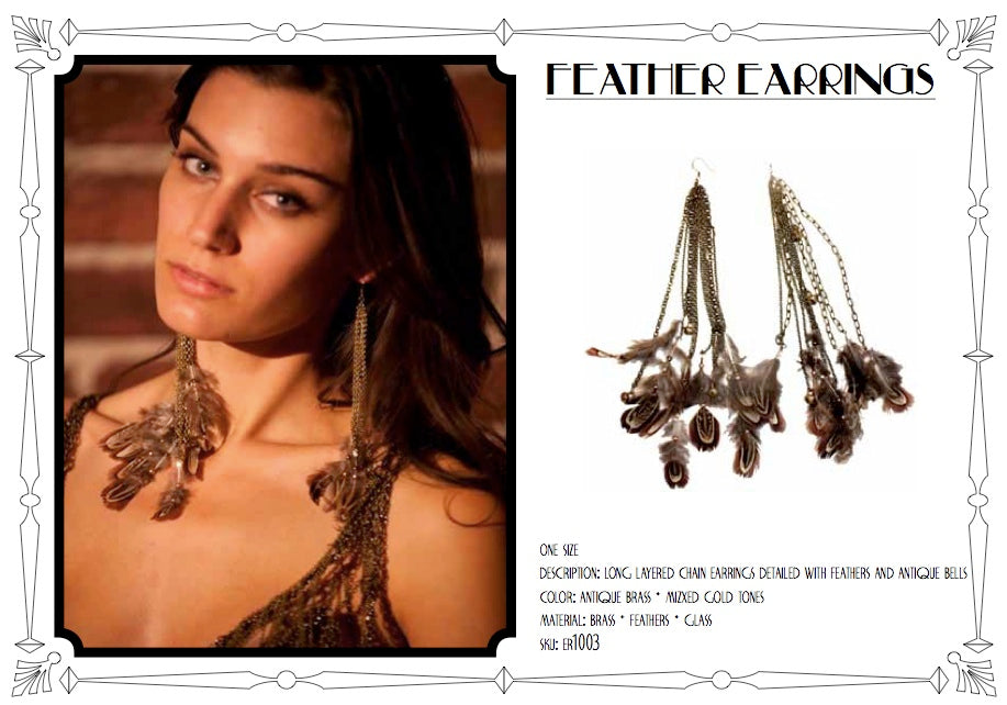 Feather Earrings by LITTER