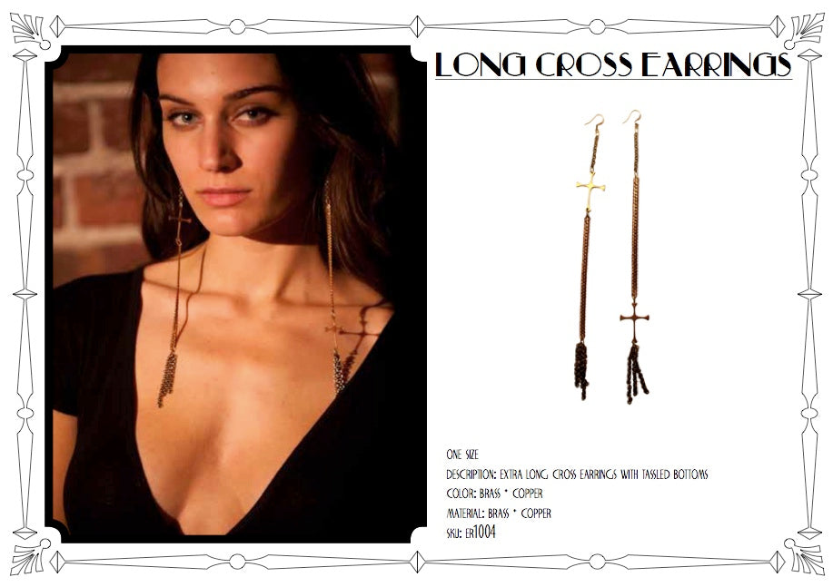 Long Cross Earrings by LITTER