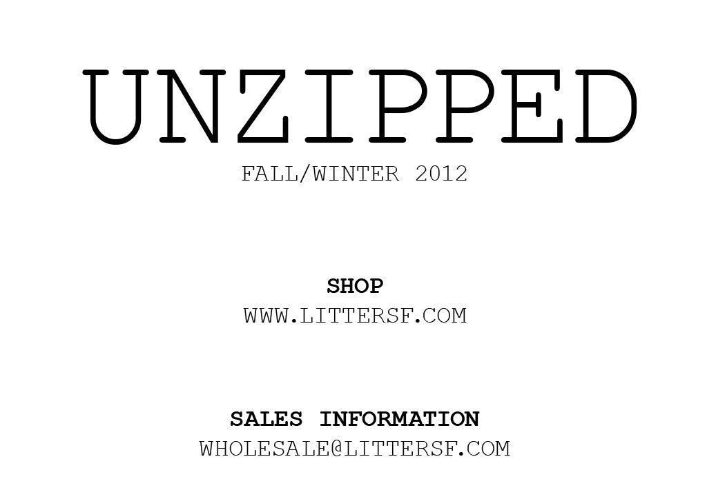 Unzipped Lookbook F/W 2012 pg 2
