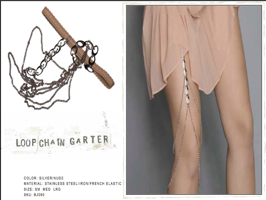 Loop Chain Garter by LITTER