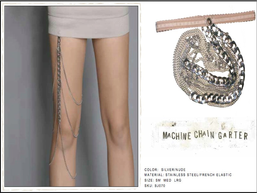 Machine Chain Garter by LITTER