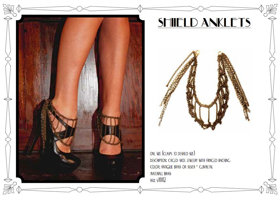 Shield Anklets by LITTER