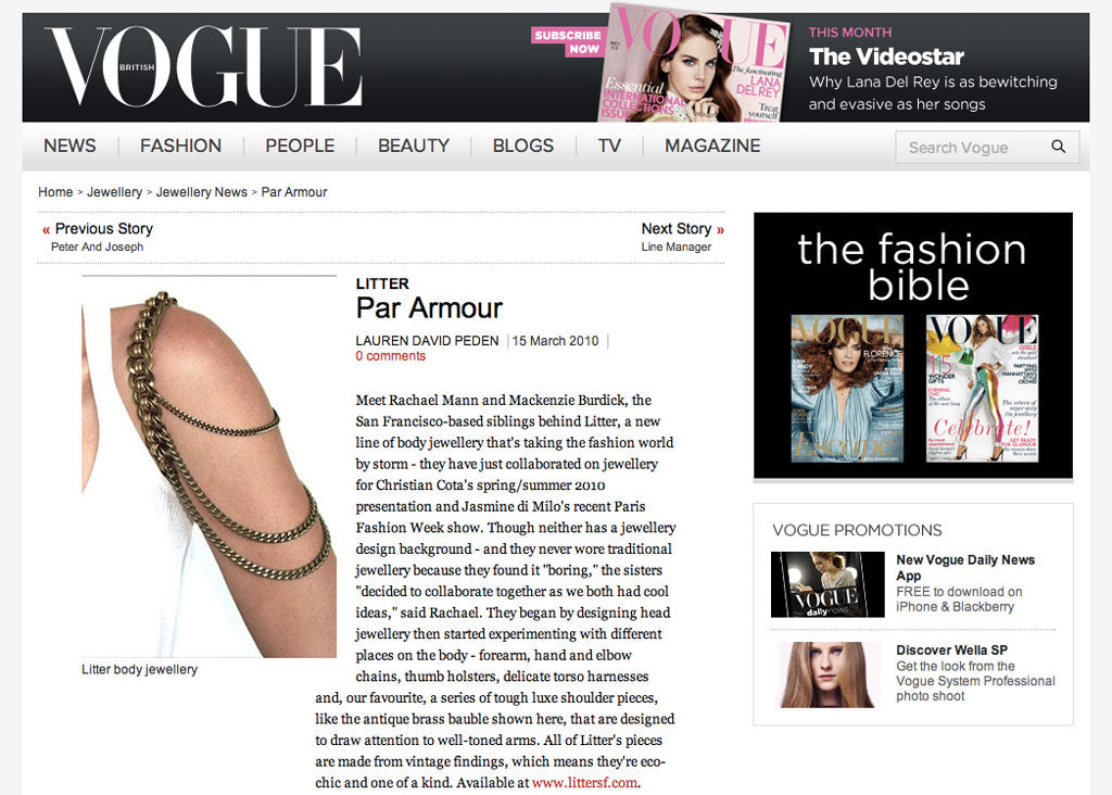 Vogue UK screenshot