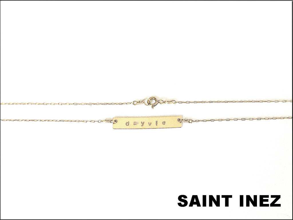 SAINT INEZ NOMBRE NECKLACE