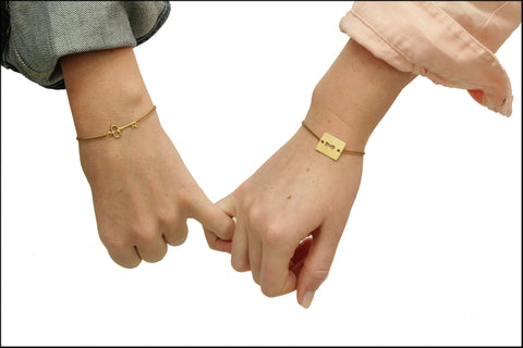 'LOCK AND KEY' FRIENDSHIP BRACELETS