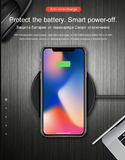 HOCO original Qi Wireless Charger Desktop Wireless Charging Pad For iPhone 11 Pro XR Xs Max X 8  for Samsung Galaxy S9 S8 xiaomi