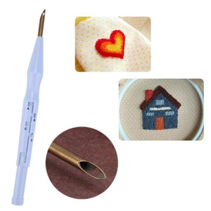 DIY Punch Needle Set Embroidery ABS Plastic Needle Felting Wool Felt Craft Craft Hand Tools Embroidery Sewing Tools