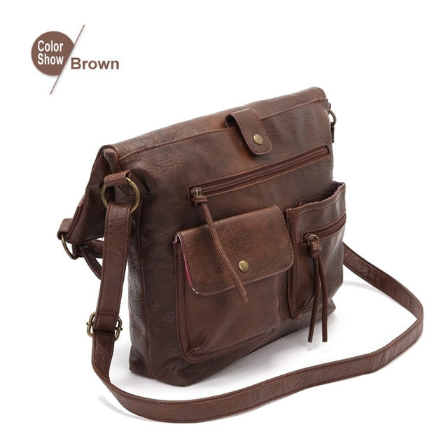 Women Bags Shoulder Bag For Girls Pu Leather Handbags Crossbody Fold Over Packets Fashion High Quality Casual Tote 14'laptop bag