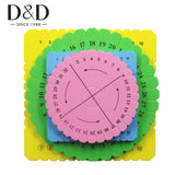 Mixed 4pcs Bracelet Knitting Kumihimo Disc Disk Tray Braided Rope Knot Round Square Handmade Knitting Tool Board