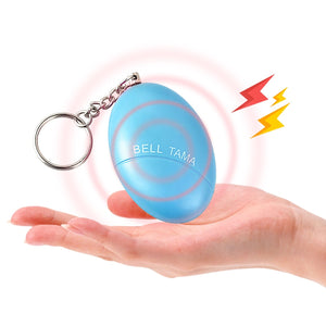 Self Defense Alarm 120dB Egg Shape Girl Women Security Protect Alert Personal Safety Scream Loud Keychain Emergency Alarm