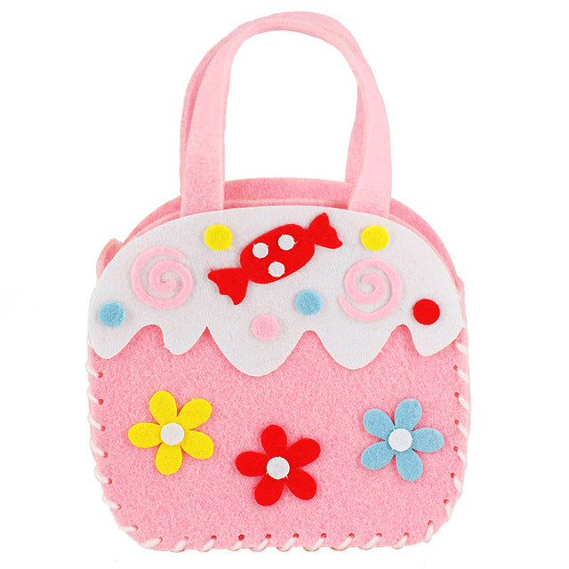 11 Pattern Handicraft Toys for Children Pink Bag Girl Gift Fabrication DIY Toy Animal Handbag Arts Crafts Educational Toy 2019