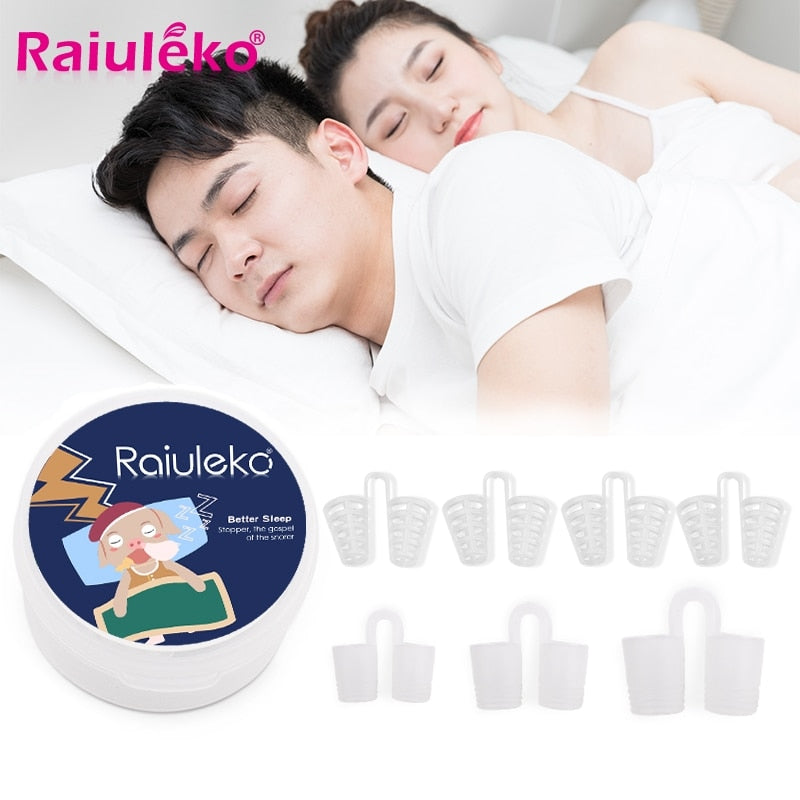7pcs/Box Silicone Anti Snoring for Sleep Assist Nose Breathing To Prevent Nasal Suspension Personal Health Care Sleep Snoring