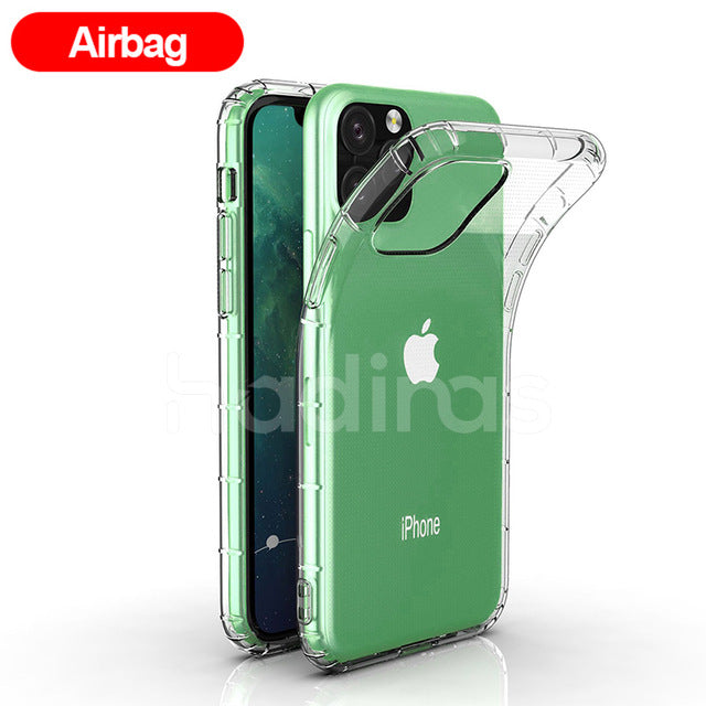 Transparent Silicone Case for iPhone 11 2019 on iPhone 11 Pro Max Ultra Thin Clear Soft TPU Case Cover for iPhone XR X XS Max