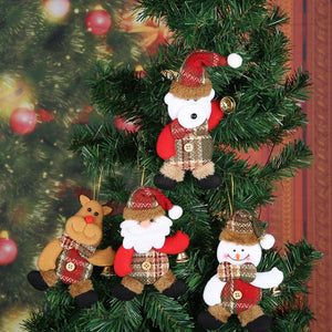 Navidad Christmas Tree Decoration Hanging Ornament Santa Snowman Xmas natal Decoration for home New Year Party Supplies