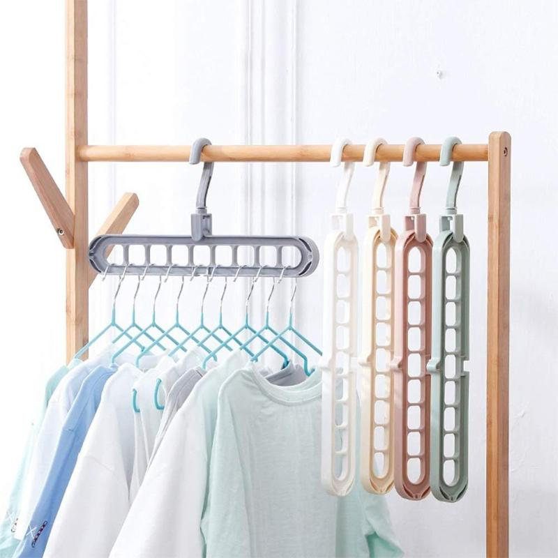 5Pcs Plastic Magic Clothes Hanger Rotary Multiport Support Circle Hanger Home Storage Rack Closet Wardrobe Organizer