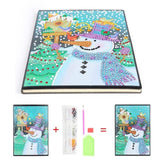 DIY Diamond Painting Notebook Special Shaped Diamond 60 Pages A5 Notebook Christmas Gift for Student Office
