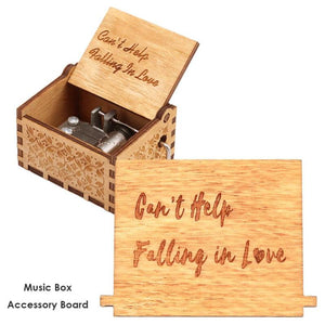 Retro Wooden Hand Cranked Music Box Replace Board Accessories Xmas Kids Gift Decoration for home  0.56