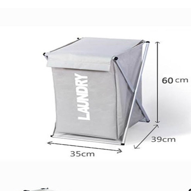 X-shape Foldable Dirty Clothes Laundry Storage Sorter 3 Section Large Collapsible Hamper Kids Baby Laundry Basket Organizer Bag