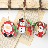 Rattan Ring Christmas Pendants Party Decorations for home Gathering Photographic Props