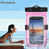 Men Women Outdoor Mini Swimming Surfing Waterproof Bag Case for iPhone 7 8 X Underwater Float Bag for Phone Xiaomi Huawei Mobile