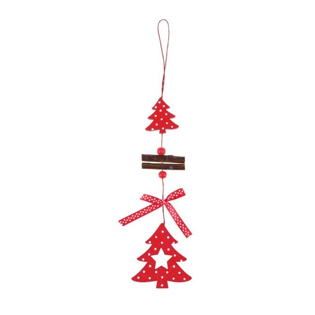 Wooden Snowflake Heart Star Bell Pendant Christmas Tree Ornaments Party Christmas Decorations For Home Navidad New Year Gifts