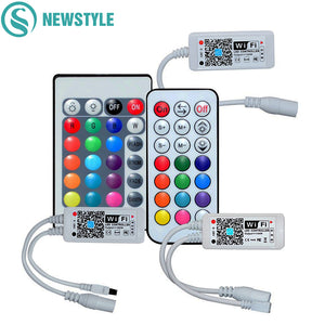 DC12V Mini Smart RGB RGBW WiFi Music LED Controller 21Key RF Remote Control For RGB RGBW LED Strip Lights With IOS Android APP