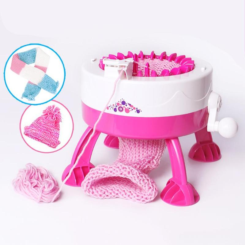 Plastic Needle Sewing Tools DIY Hand Knitting Machine Weaving Loom for Scarf Hat Kids Children Pretend Play Toys