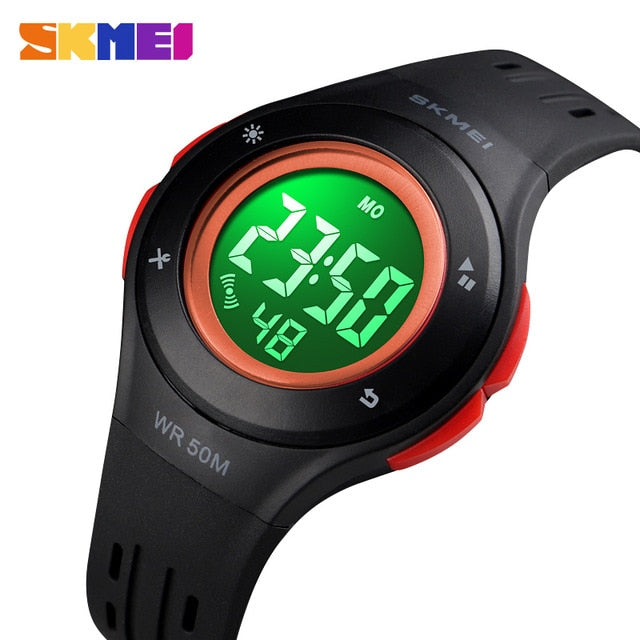 Watches For Kids LED Sport Style Children's Digital Electronic Watch Boys Girls Children Cartoon 50M Waterproof Watch SKMEI 2018