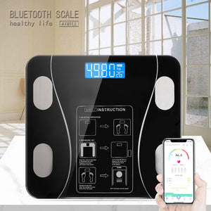 AIWILL kitchen Bathroom Scales Accurate Smart Electronic Digital Weight Home Floor Health Balance Body Glass LED Display 180kg