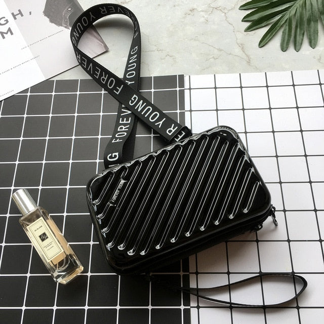 Luxury Hand Bags for Women 2019 New Suitcase Shape Totes Fashion Mini Luggage Bag Women Famous Brand Clutch Bag Mini Box Bag