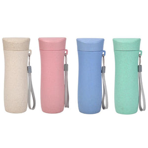 300mL Wheat Straw Drinking Cup Eco-Friendly Tea Mug Portable Water Bottle