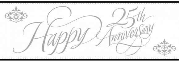 Banner - Happy Anniversary - 25th
