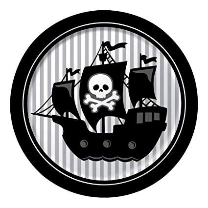 Plates - Pkt of 8 - Pirate (425018)