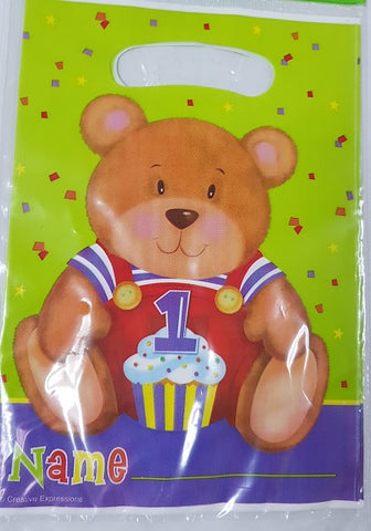 Loot Bags - Teddy 1st Birthday (08-5944)