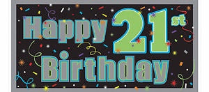 Banner - Happy 21st Birthday (211566)