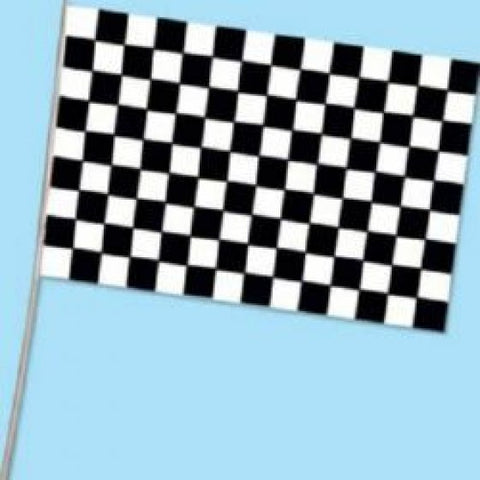 Paper Flag - Black & White Checkered (18060)