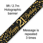 Banner - Happy 21st Birthday
