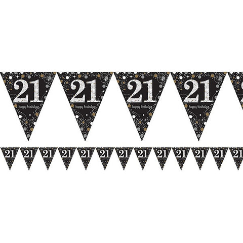 Flag Bunting - 21st birthday (9900559-56)