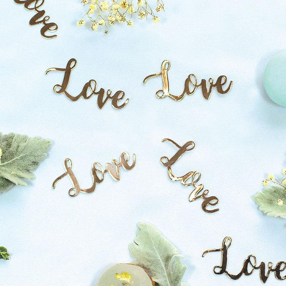 15 x Jumbo Confetti - Love (Rose Gold) (410092)