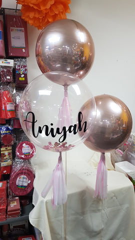 2 x Orbz & 1 x Personalised Deco Bubble