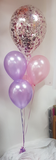 "18"" Confetti balloon with 4 x latex balloons & weight"