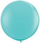 3 Foot Balloon with weight - Inflated - Plain