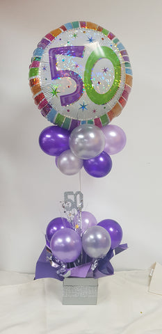 "18"" Foil Balloon Centrepiece with Spangle (18FBCPS01)"
