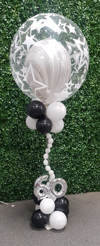 Deco bubble table centrepiece