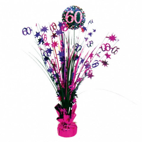 Spangle Centrepiece - 60th (Pink) (9900615)