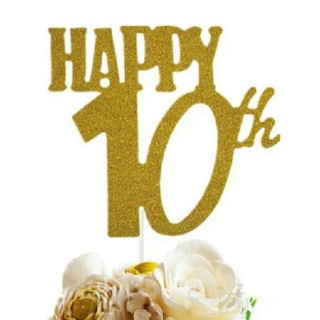 Cake Topper - Happy 10th
