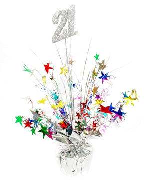 Spangle Centrepiece - 21st - Multicoloured (207310)