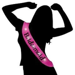Sashes - Flashing Hot Pink Sash - Bridesmaid