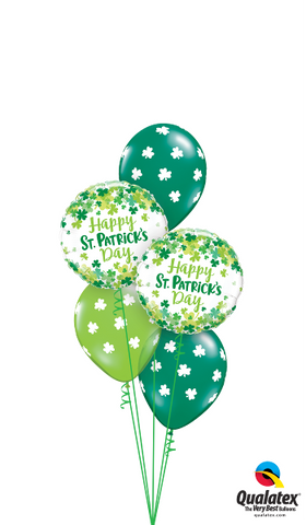 St Patrick's Day - 2 x foil &  3 balloons with weight (SPD02)