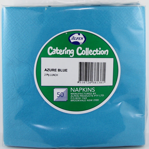 Napkins - Lunch - Azure Blue (380138)